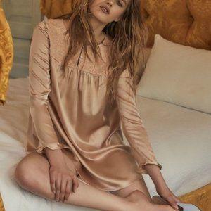 For Love & Lemons Kira nightgown dress pink large